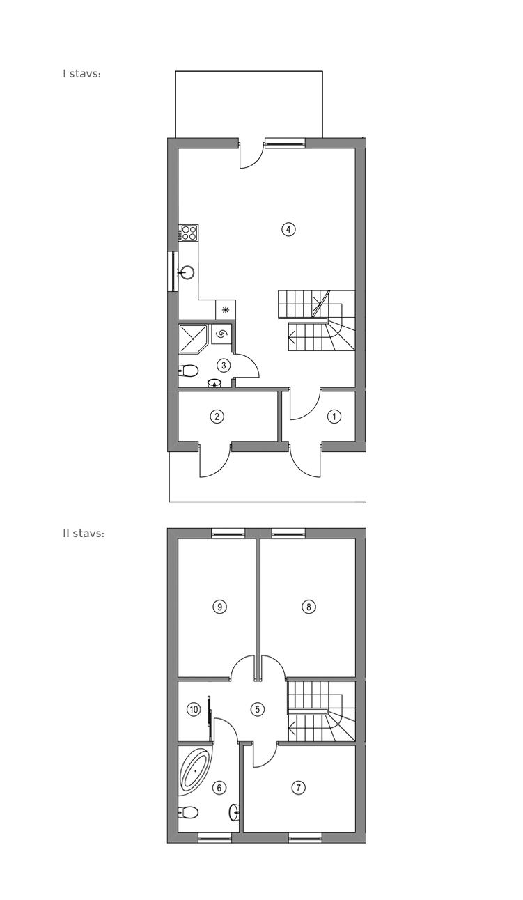 Rindu māja: 1