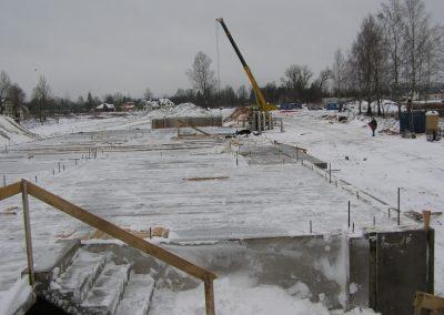 Pārseguma paneļu montāža, 2008. gada janvāris