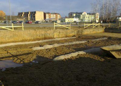 12 dzīvokļu mājas būvniecības darbi, 2012.gada marts