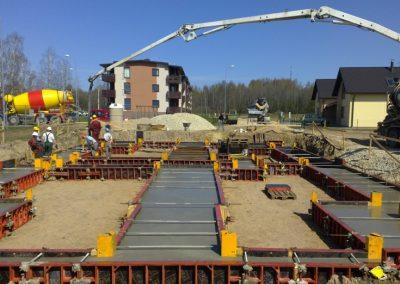 12 dzīvokļu mājas būvniecības darbi 2012.gada maijs