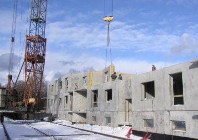 Paneļu montāža 2008.gada marts
