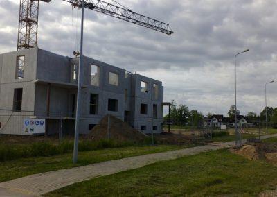 12 dzīvokļu mājas būvniecības darbi Dzērveņu iela 7, 2012.gada jūnijs