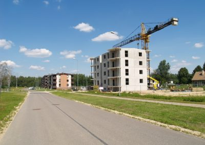 12 dzīvokļu mājas būvniecības darbi Dzērveņu iela 7, 2012.gada jūlijs