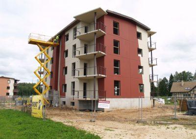12 dzīvokļu mājas būvniecības darbi Dzērveņu iela 7, 2012.gada augusts