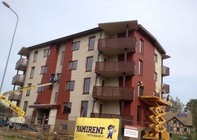 12 dzīvokļu mājas būvniecības darbi Dzērveņu iela 7, 2012.gada septembris