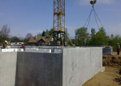 Dzērveņu 9. Pagrabstāva izbūvēšanas darbi, 2013.gada maijs