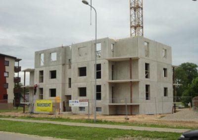 Dzērveņu 9. Trešā stāva būvniecība, 2013.gada jūnijs