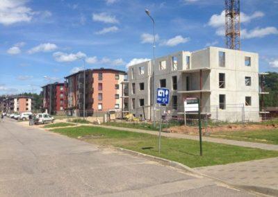 Daudzdzīvokļu mājas būvniecība, Dzērveņu iela 11, 2014.gada jūlijs