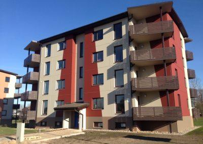 Daudzdzīvokļu mājas būvniecība, Dzērveņu iela 11, 2014.gada oktobris