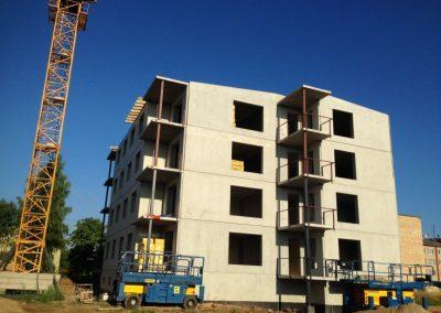 Jaunās daudzdzīvokļu mājas būvniecība, Augusts 2015